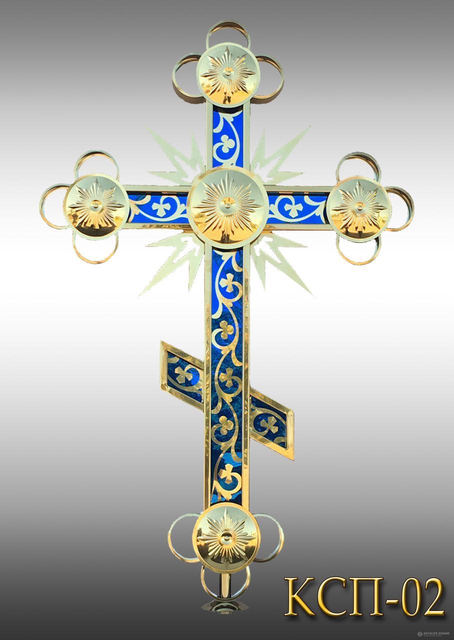 Хрест накупольний з напиленням нітрид титану КСП - 02 (Висота 0,75 - 4,5м)