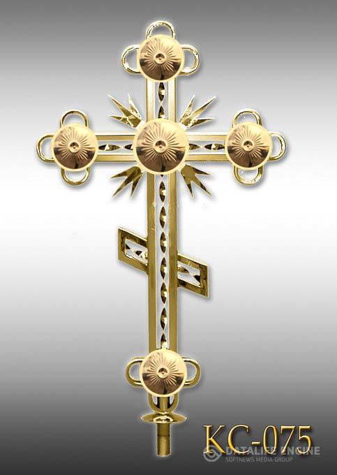 Хрест накупольний з напиленням нітрид титану КС - 075 (Висота 0,75 - 4,5м)