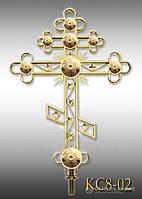 Хрест накупольний з напиленням нітрид титану КС8 - 02 (Висота 0,75 - 4,5м)