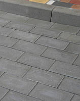 Тротуарная плитка Кирпич 240х160 - серый, фото 1