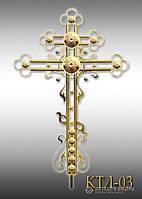 Хрест накупольний з напиленням нітрид титану КТЛ - 03 (Висота 0,75 - 4,5м)