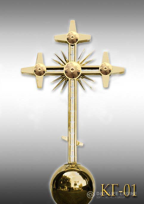 Хрест накупольний з напиленням нітрид титану КТ - 01 (Висота 0,75 - 4,5м)