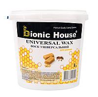 Воск универсальный Bionic House. Натуральный пчелиный воск с добавкой специально обработанного льняного масла