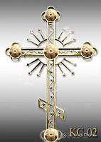 Хрест накупольний з напиленням нітрид титану КС - 02 (Висота 0,75 - 4,5м)