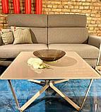 Стол журнальный LUTON S 89,5 x 89,5 x 45 см стекло мокко глянец Nicolas (бесплатная доставка), фото 4
