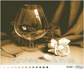 """Бісерна заготовка  """"Келих і троянда"""""""
