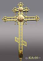 Хрест накупольний з напиленням нітрид титану КА - 01 (Висота 0,75 - 4,5м)