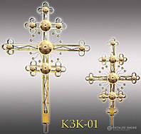 Хрест накупольний з напиленням нітрид титану КЗК - 01 (Висота 0,75 - 4,5м)
