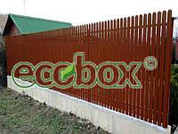 Забор штакетный металлический  МU-1800х2000/22 Паркан металевий оцинкований Євроштахет ЕСОВОХ©