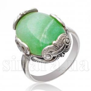 Серебряное кольцо с авантюрином 16864