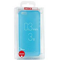 Чехол-накладка OZAKI O!coat 0.3 Jelly Apple iPhone 5, 5S Голубая