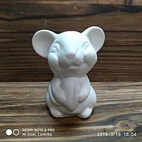 Мышка с сыром керамическая h=70мм  М145