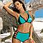 Яркий бирюзовый купальник с высокими плавками Marko M 551 VERONA. Разные расцветки, фото 2