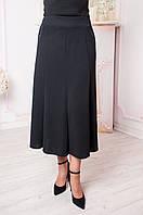 Женская юбка годе батал Тая чёрная, фото 1