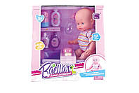 Кукла пупс интерактивная 11999 пьет, писает, ванна, бутылочка, аксесс для купания, в кор.32*32*21см