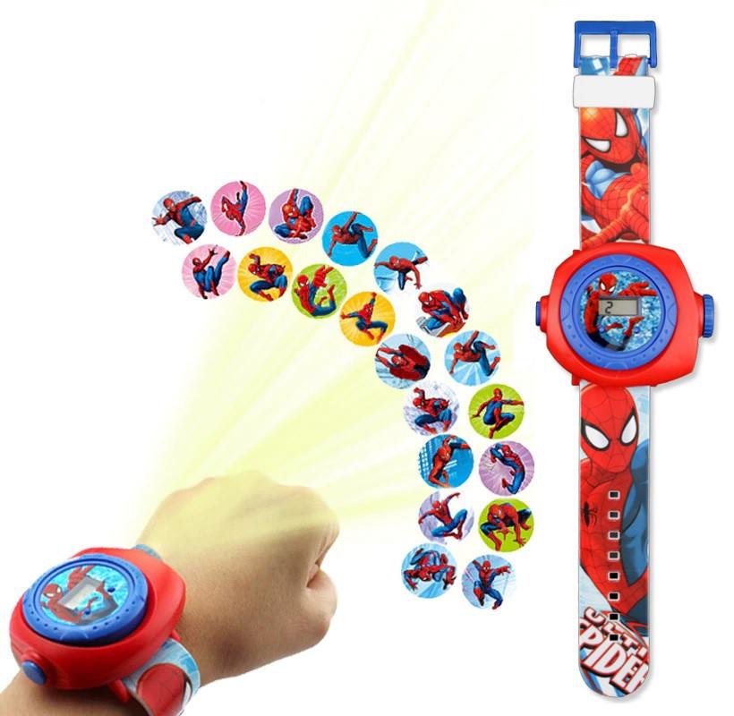 """Дитячі наручні годинники з 3d проектором """"Spiderman"""""""