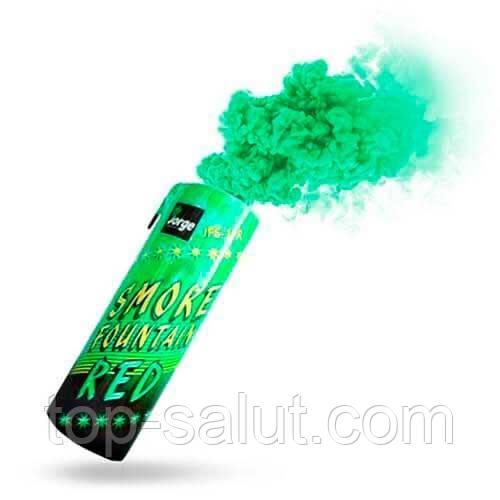 Цветная ручная дымовая шашка GREEN Smoke, время: 60 секунд, цвет дыма: зеленый