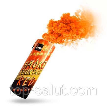 Цветная ручная дымовая шашка ORANGE SMOKE, время: 60 секунд, цвет дыма: оранжевый
