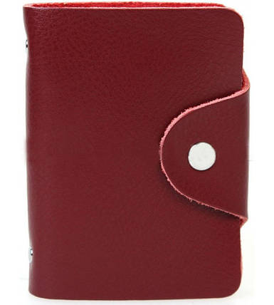 Картхолдер BR-S на 26 карт из эко-кожи бордовый (910685969), фото 2