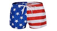 Купальные мужские шорты в расцветку американского флага опт, фото 1