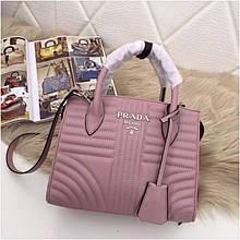 Сумка Prada Diagramme Прада натуральная кожа, цвет розовый