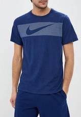 Футболка Nike Dry-Fit Breathe graphic синяя, фото 2