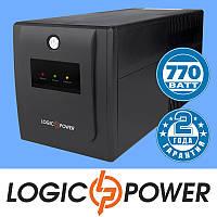 Источник бесперебойного питания ИБП, UPS LogicPower LPM-1100VA-P (770 Вт) - Гарантия 2 года