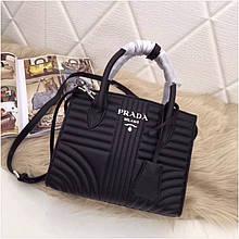 Сумка Prada Diagramme Прада натуральная кожа, цвет черный
