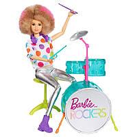 Кукла барби барабанщик рокеры Barbie and the Rockers Doll & Drum, фото 1