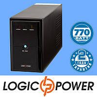 Источник бесперебойного питания ИБП, UPS LogicPower LPM-1100VA (770 Вт) - Гарантия 2 года