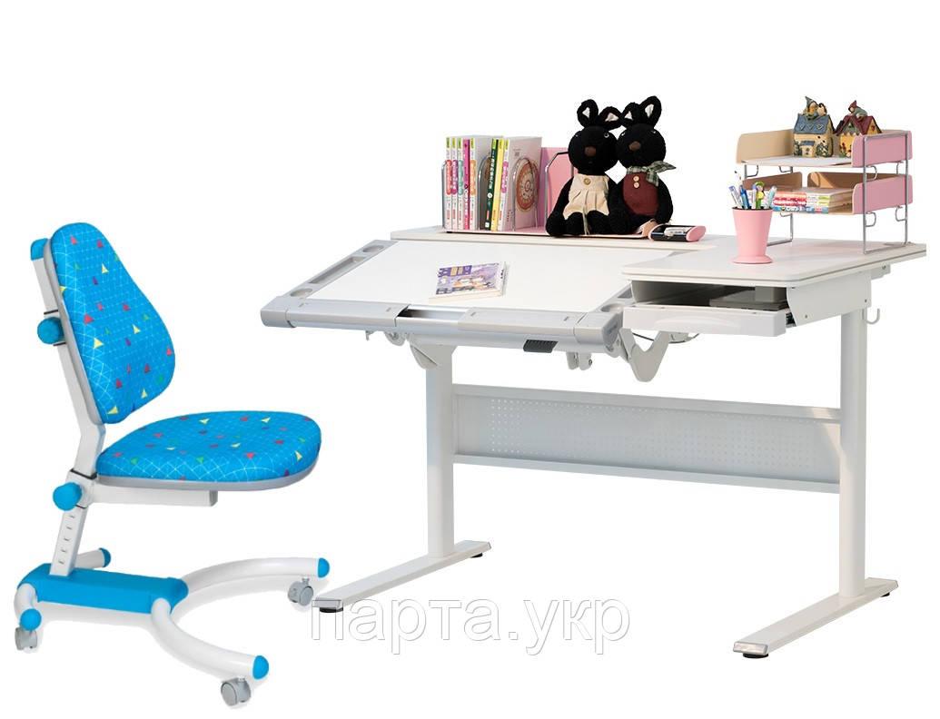 Парта-трансформер PURELY SUPER (120 см) и детские кресло Тайвань