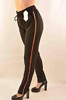 Штаны спортивные с полосками и боковыми карманами, фото 2