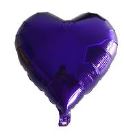 Шар фольгированный сердце ФИОЛЕТОВОЕ, 4 дюйма (12 см)