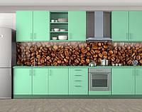 Кухонный фартук Зерна кофе, виниловая самоклеющаяся пленка, наклейка на кухню, скинали на стену, Коричневый, 600*3000 мм
