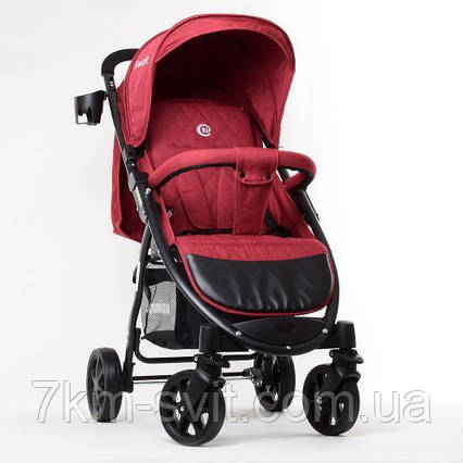 Коляска детская M 3409L FAVORIT Crimson