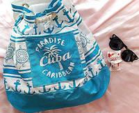 Пляжный рюкзак Cuba Paradise Caribbean. Размер: 46х43 см голубой, фото 1