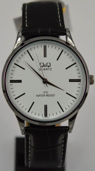 Мужские часы Q&Q C214-301 + ПОДАРОК: Держатель для телефонa L-301