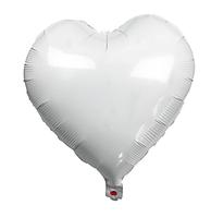 Куля фольгована серце БІЛЕ, 18 дюймів (44 см)