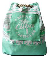 Пляжный рюкзак Cuba Paradise Caribbean. Размер: 46х43 см мята, фото 1