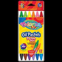 Пастель масляная Colorino трехгранная 12 цветов пастельный карандаш oil pastels