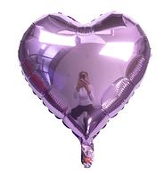 Шар фольгированный сердце ЛИЛОВОЕ, 18 дюймов (44 см)
