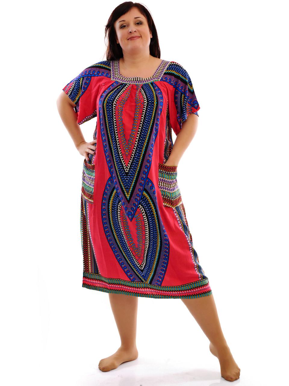Женское летнее платье с карманами 1204-6
