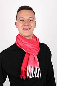 Яркий мужской шарф с бахромой