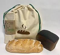 Эко мешок из ткани, крафт набор из 2-х шт для хлеба и булочек, фото 1