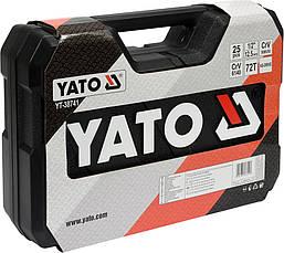 Набір інструменту для ремонту автомобіля 25 предметів Yato YT-38741, фото 2