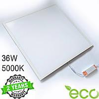 Светодиодная LED панель 600х600 мм ВСТРАИВАЕМАЯ 36Вт 5000К 2800Lm белая рамка серия ЕСО