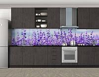 Кухонный фартук Лаванда, виниловая самоклеющаяся пленка, наклейка на кухню, скинали на стену, Фиолетовый, 600*3000 мм