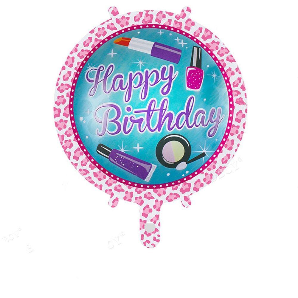Фольгированный круглый шар, HAPPY BIRTHDAY 06 - 44 см (18 дюймов)