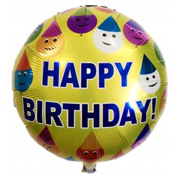 Фольгированный круглый шар, HAPPY BIRTHDAY 13 - 44 см (18 дюймов)