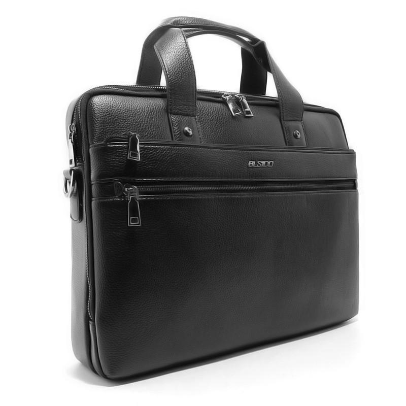 af14d624fef7 Портфель-сумка для документов А4, папка черная Blsido 9002-6- купить ...